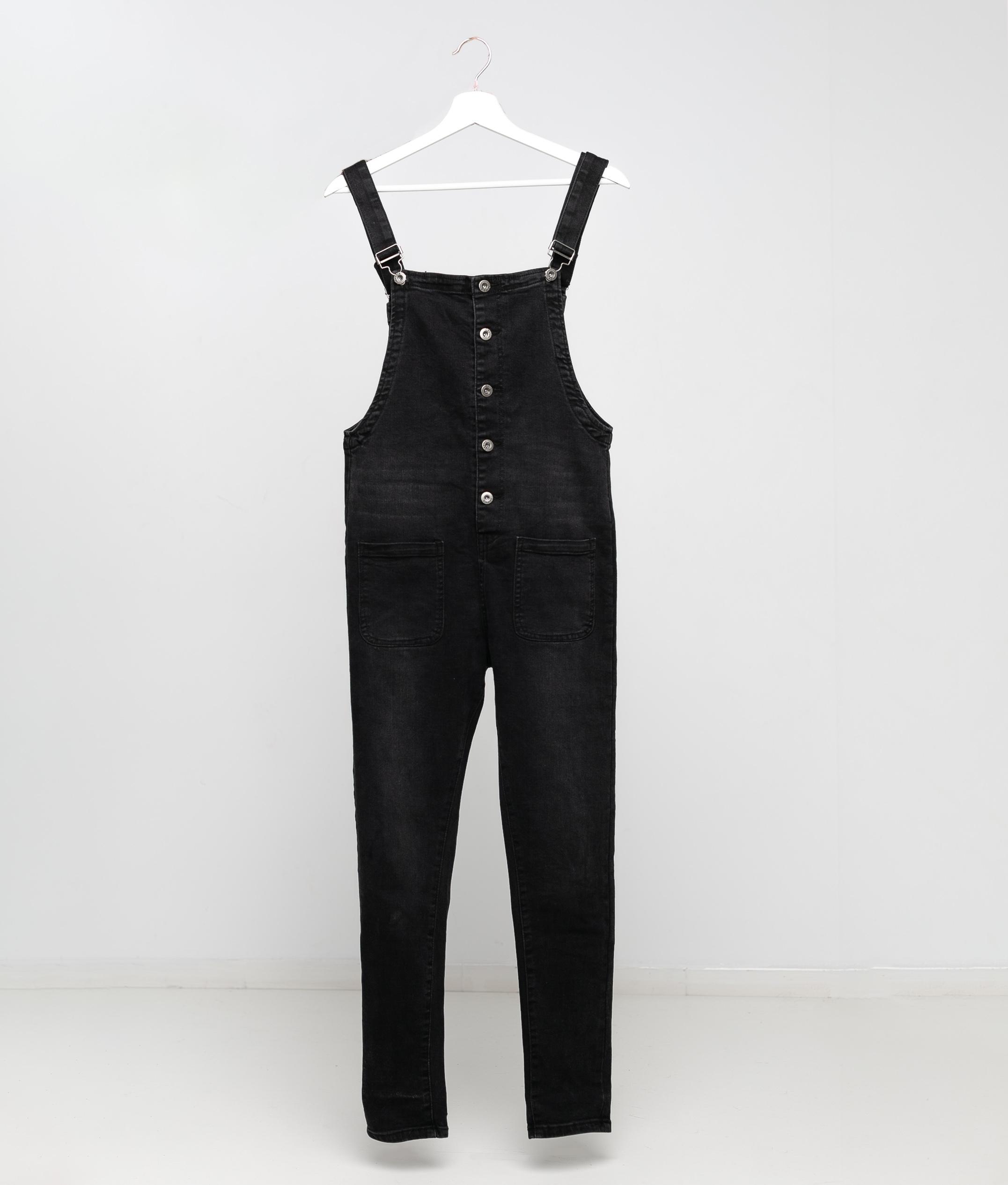 Bib overalls VESTIPE - BLACK