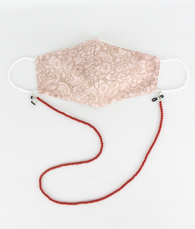 Masque Pendentif Cuna B - Rouge