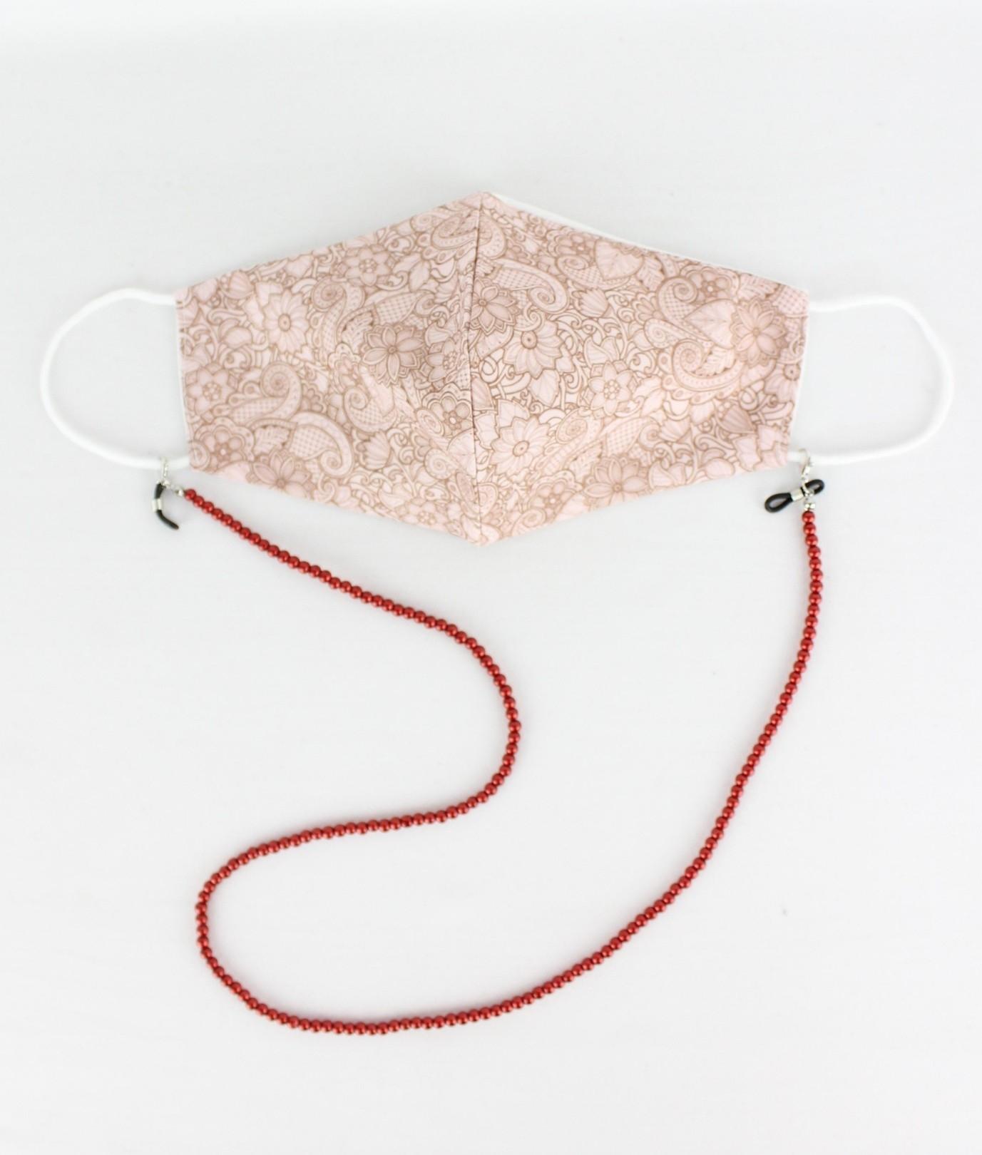 Mask Pendant Cuna B - Red