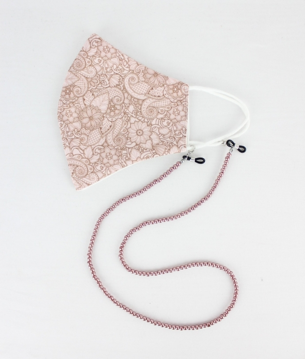 Masque Pendentif Cuna B - Rose Sombre