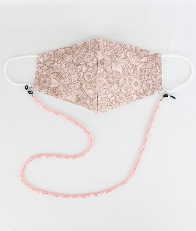 Masque Pendentif Cuna B - Rose