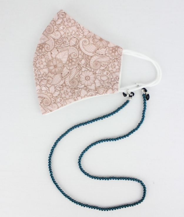 Mask Pendant Cuna B - Turquoise