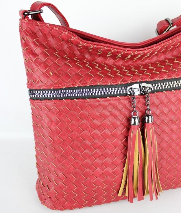 Sac porté épaule Evely - Rouge