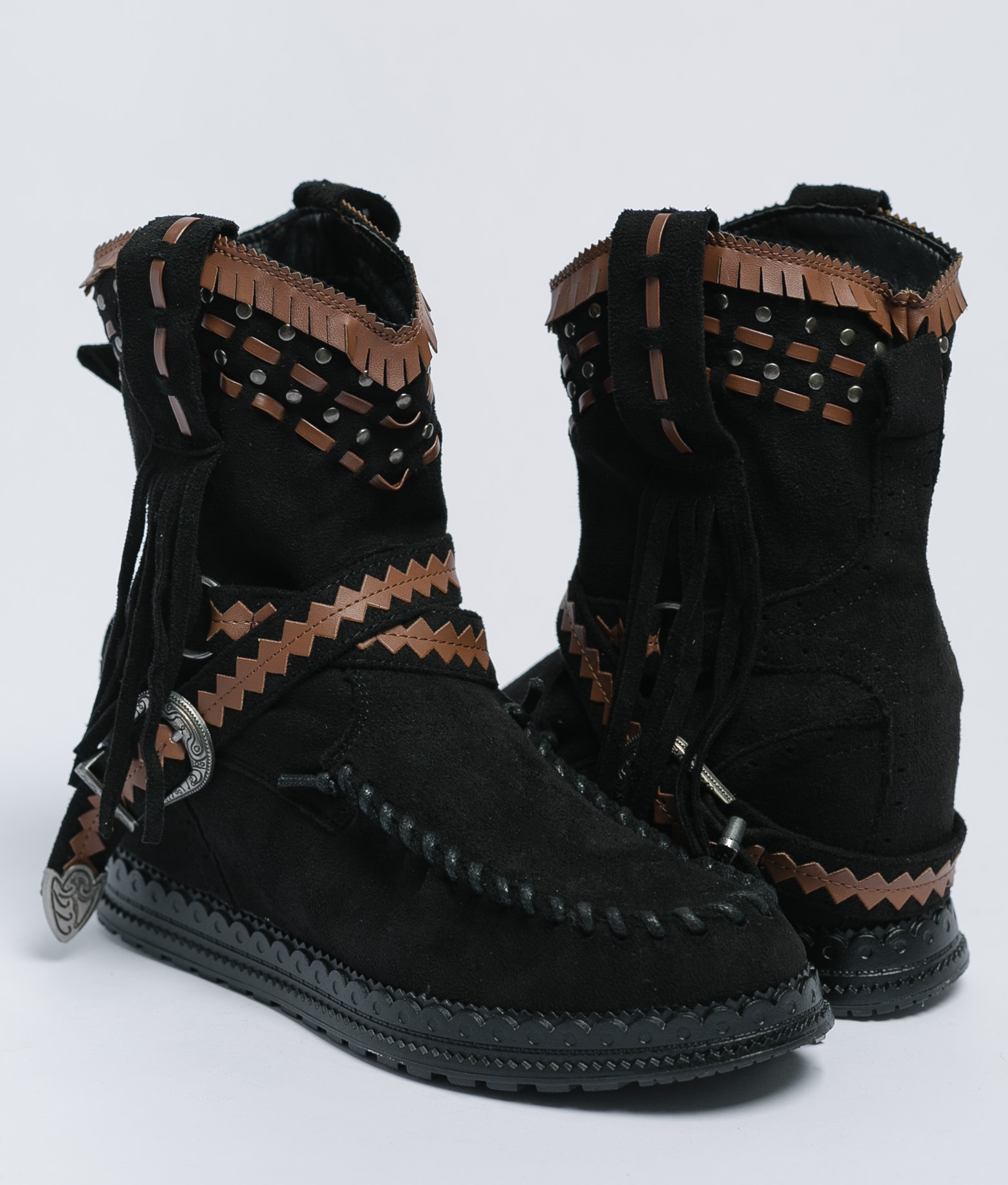Bota Baja Indianini Korian - Negro