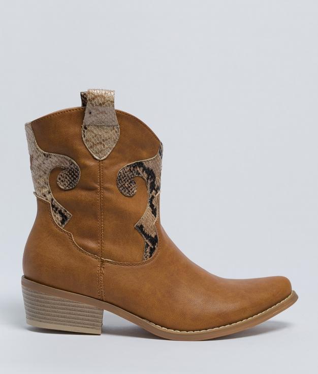 Low Boot Pamila - Camel