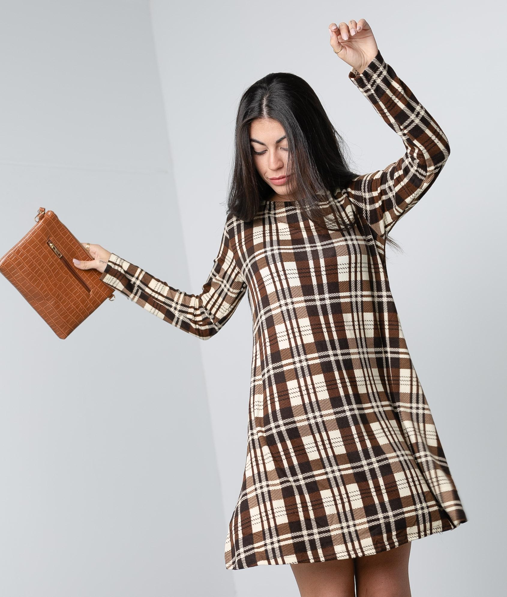 Vestido Paroti - Marrom