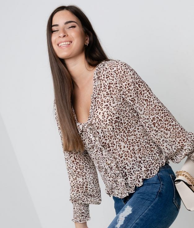Blusa Pretis - Camel