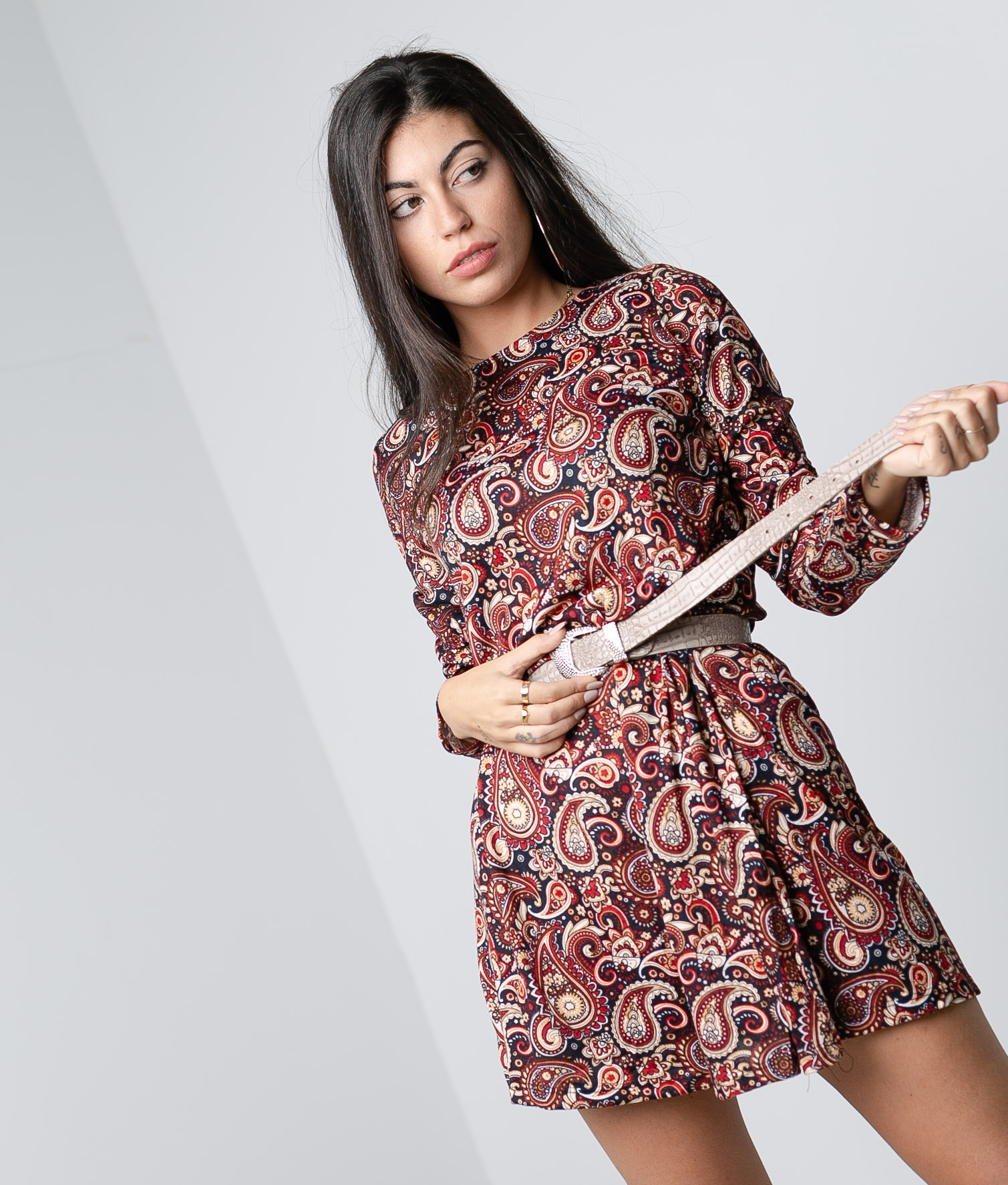 Robe Pasley - Rouge