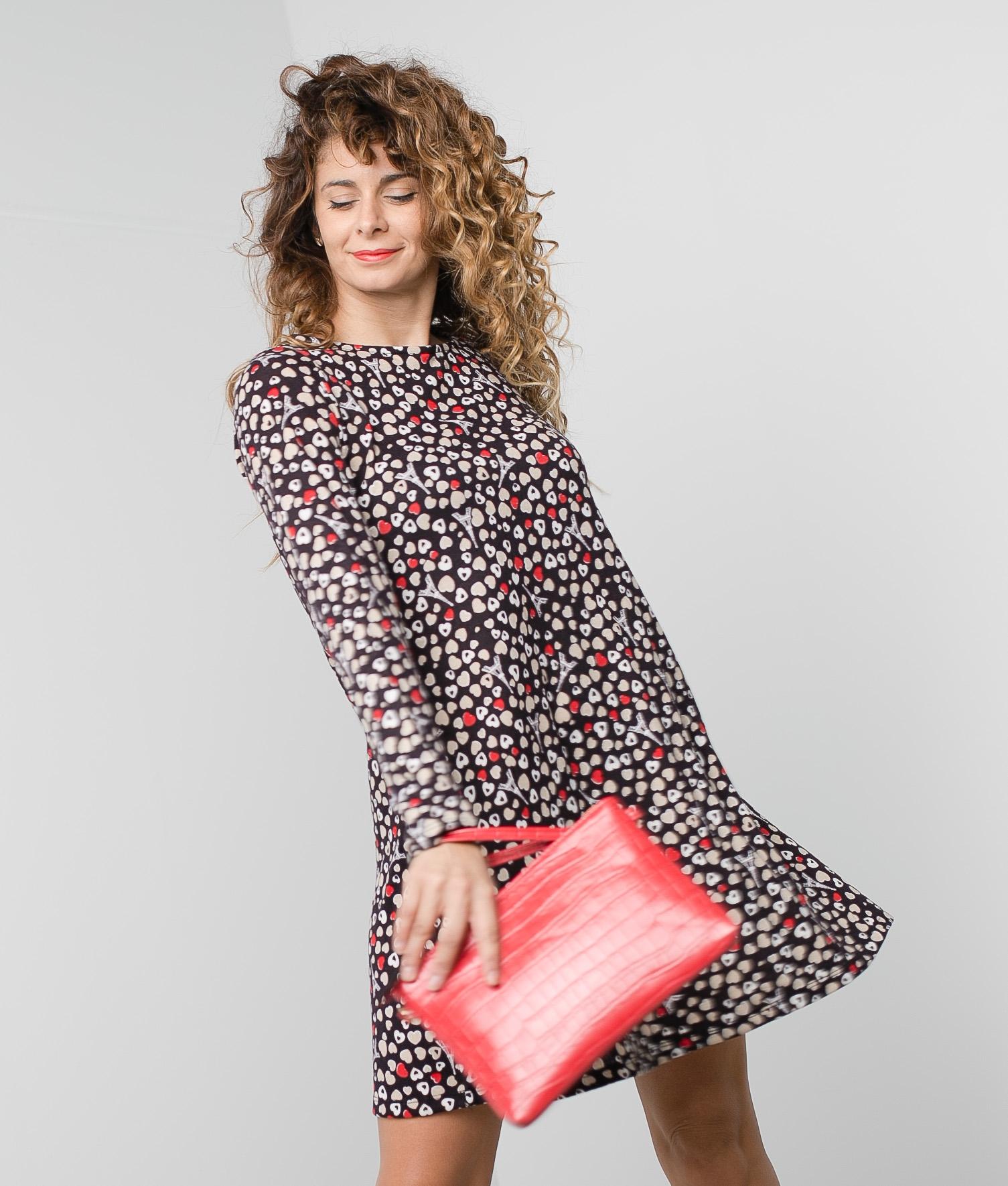 DRESS DIORA - BROWN