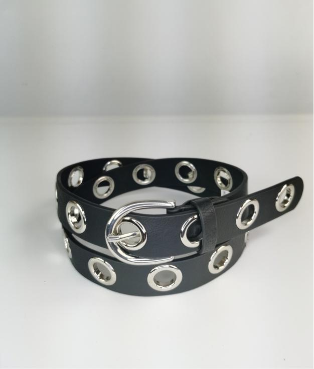 Cinturón Pilon - noir argent