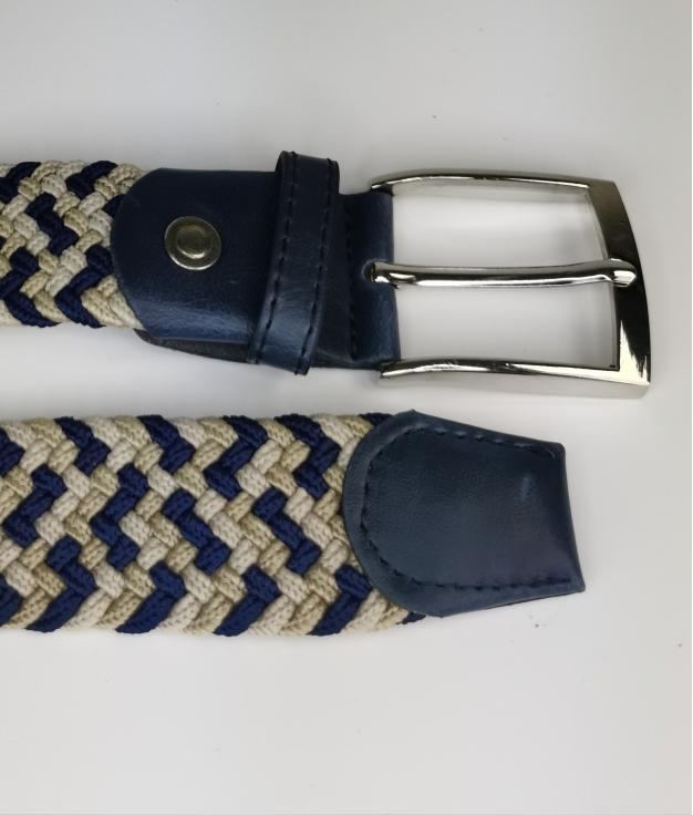 Cinturón elastilo Ela - tricolor azul