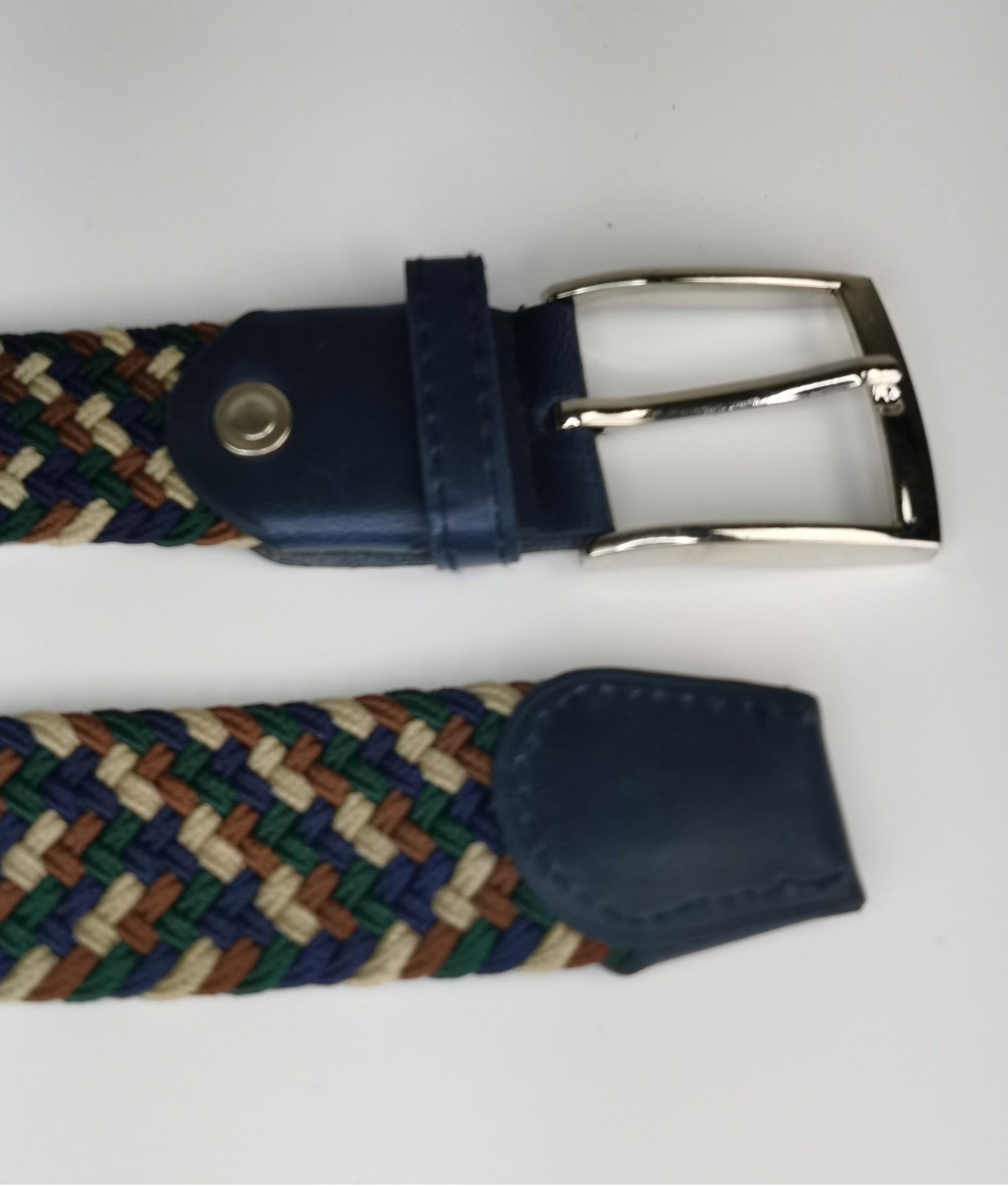 Cinturón elastilo Ela - bicolor gris