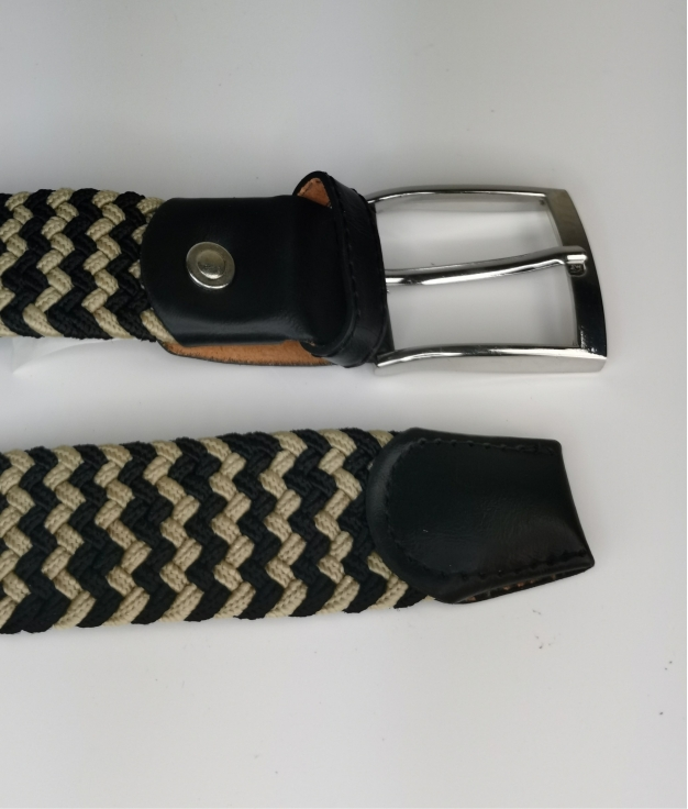 Cinturón elastilo Ela - bicolor negro