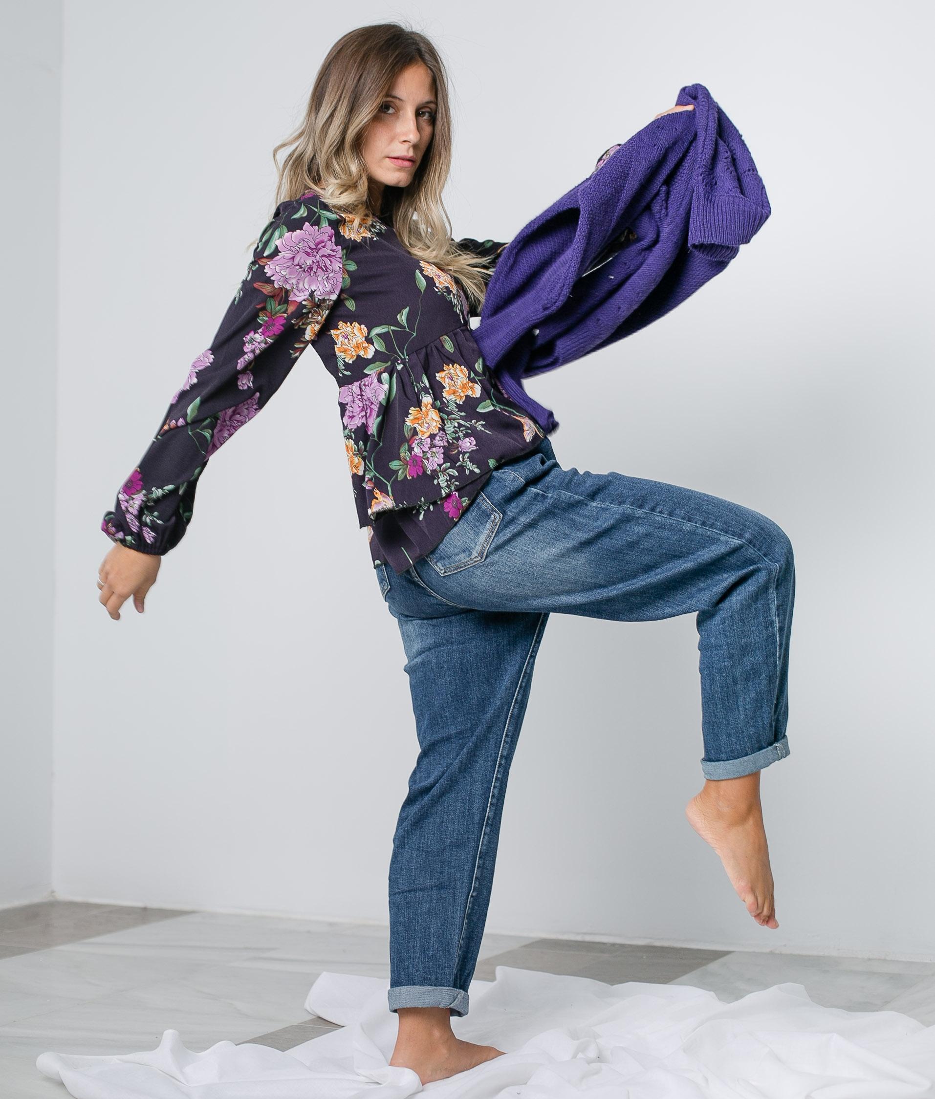 Blusa Peonia - Roxo