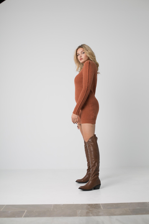 Vestido Halo - Teja