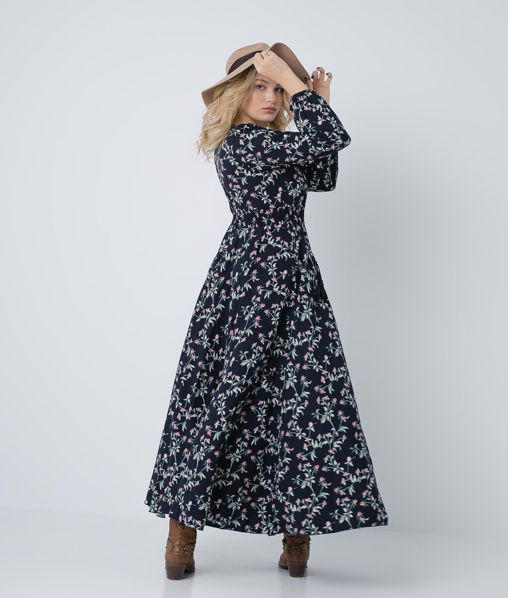 Dress Garko - Navy Blue