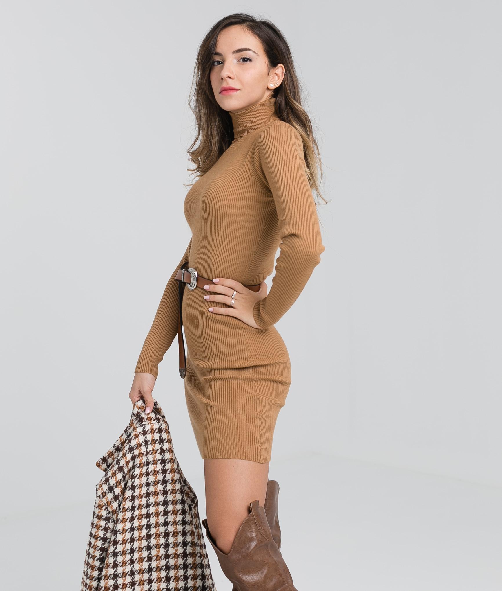 VESTIDO PIAF - CAMEL