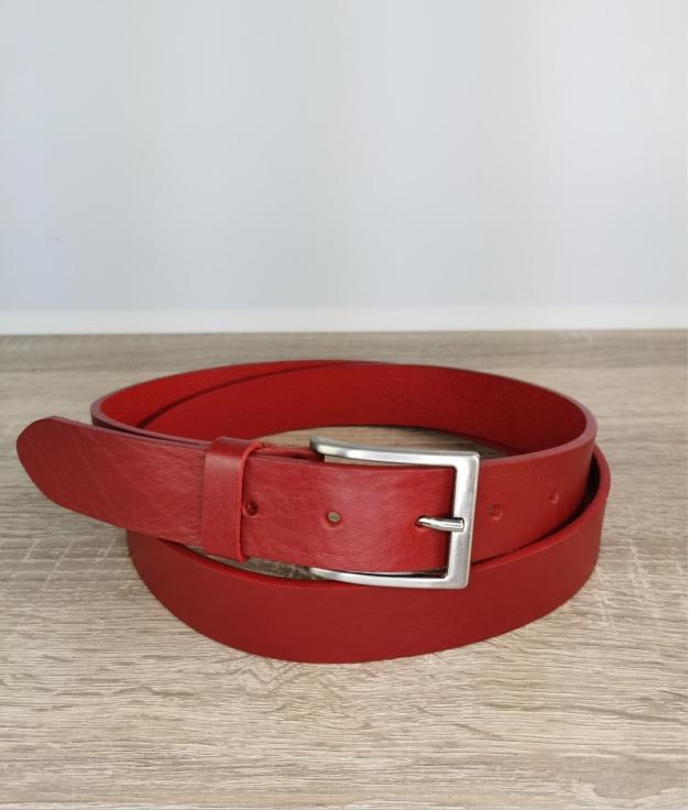 Cinturón cuero Italiano - vermeljo