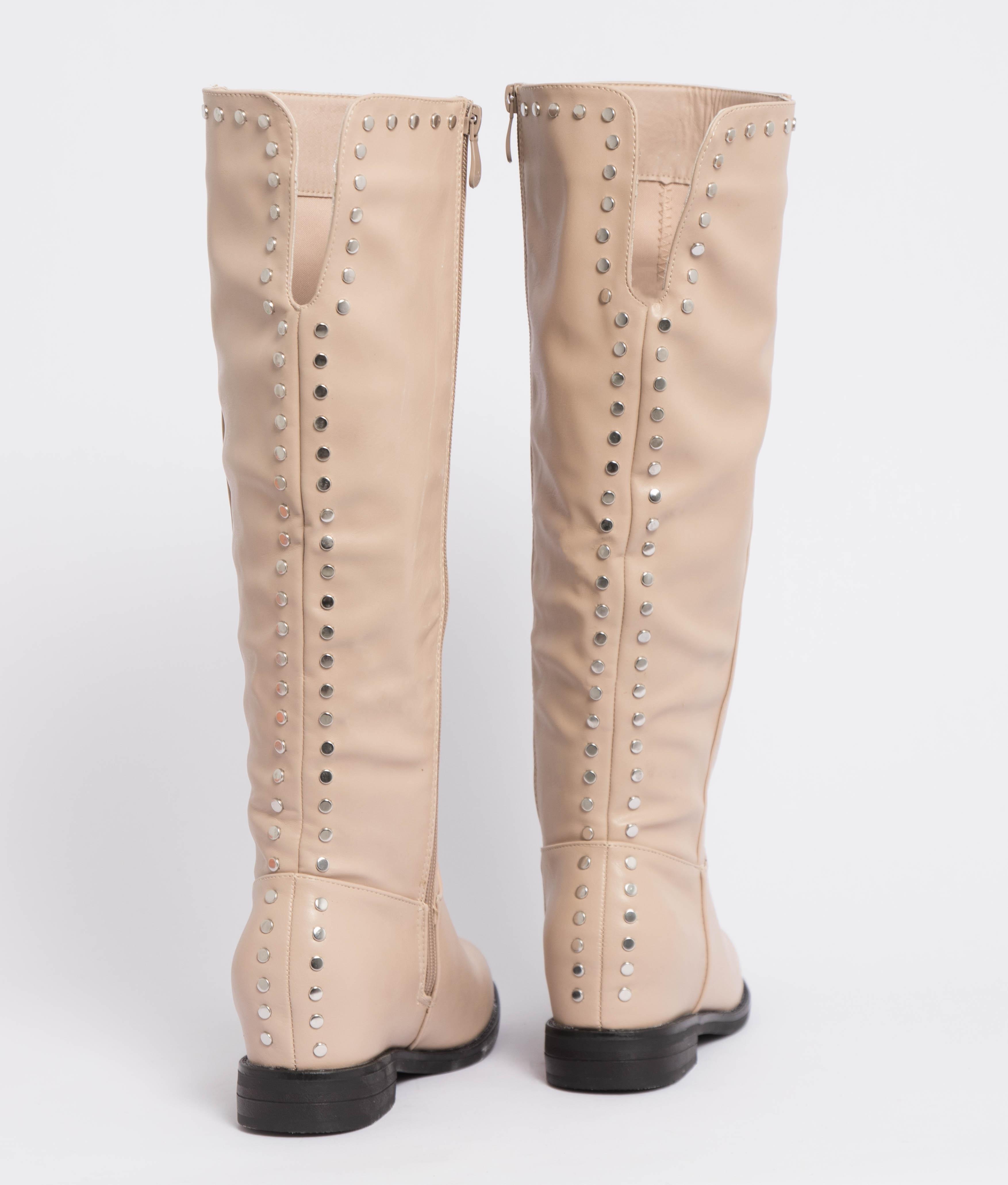 Knee-Length Boot Bania - Beige