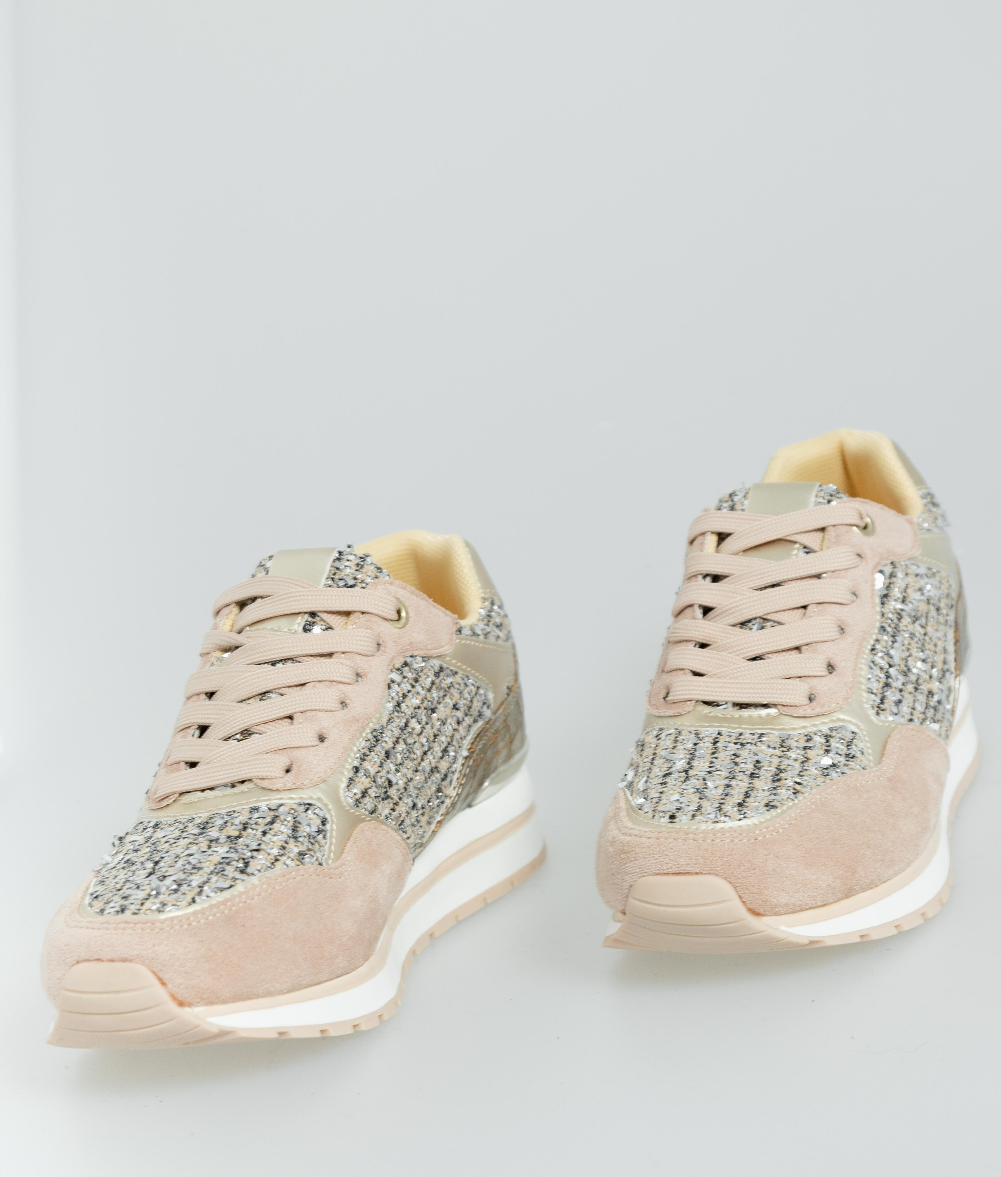 Sneakers Glam - Nude