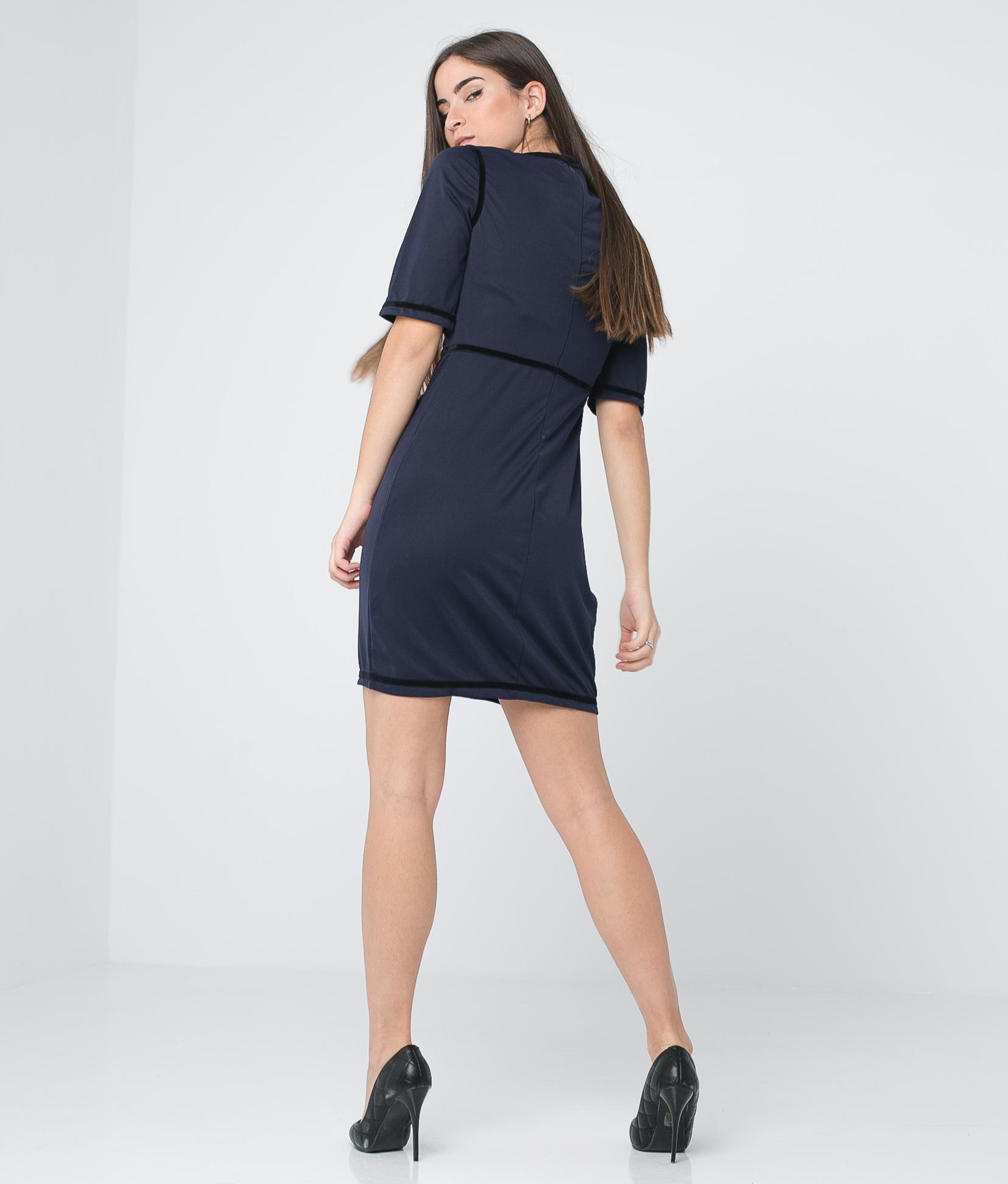 Dress Brito - Navy Blue