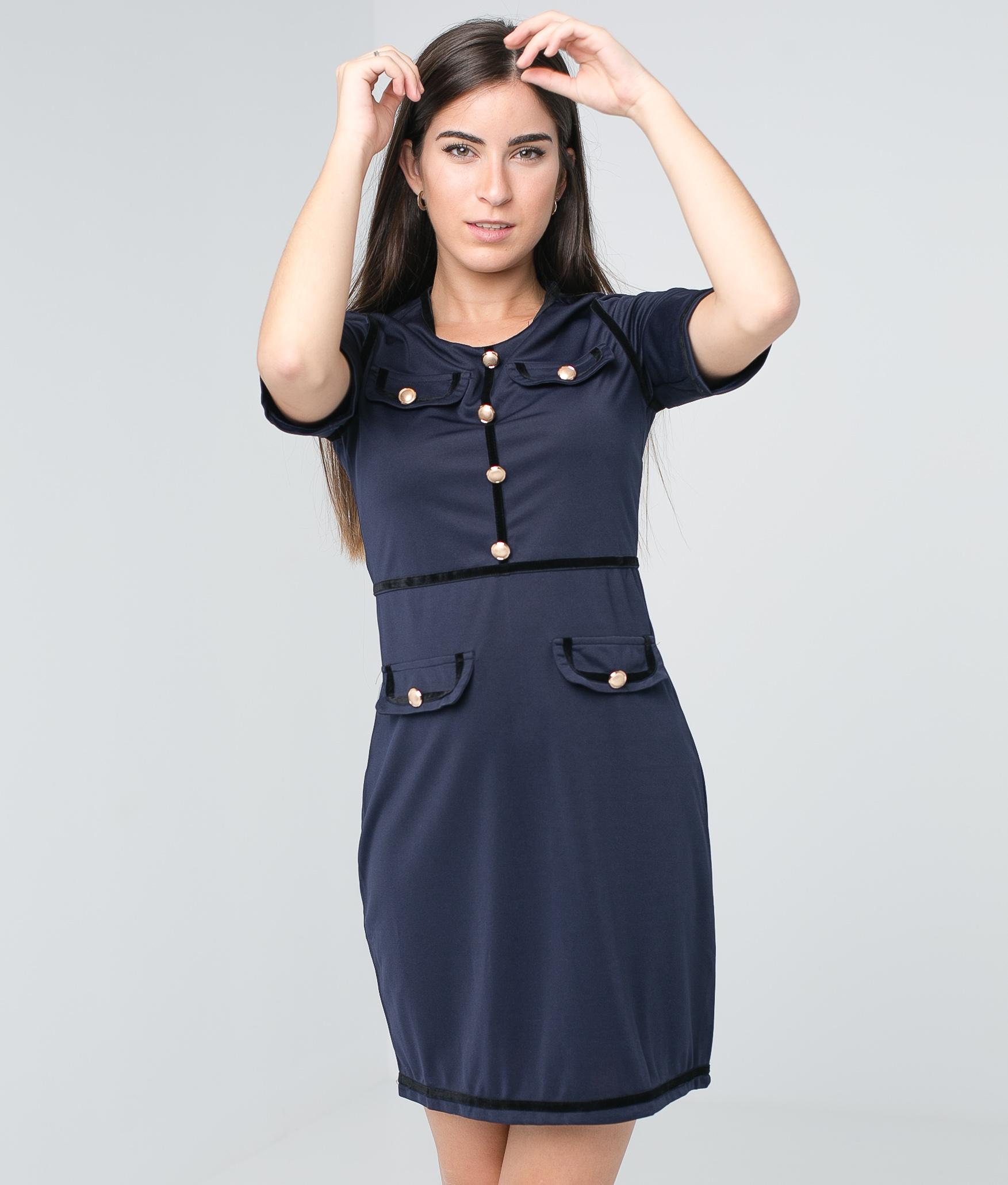 Vestido Brito - Azul Marinho