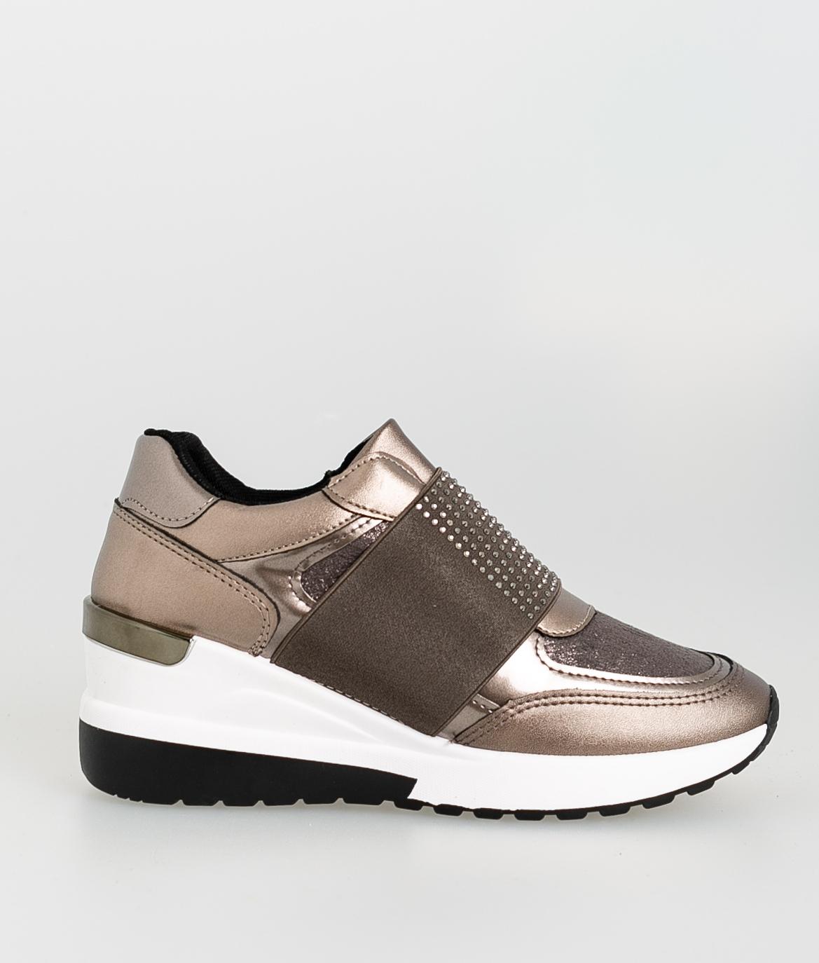 Sneakers Printa - Bronce