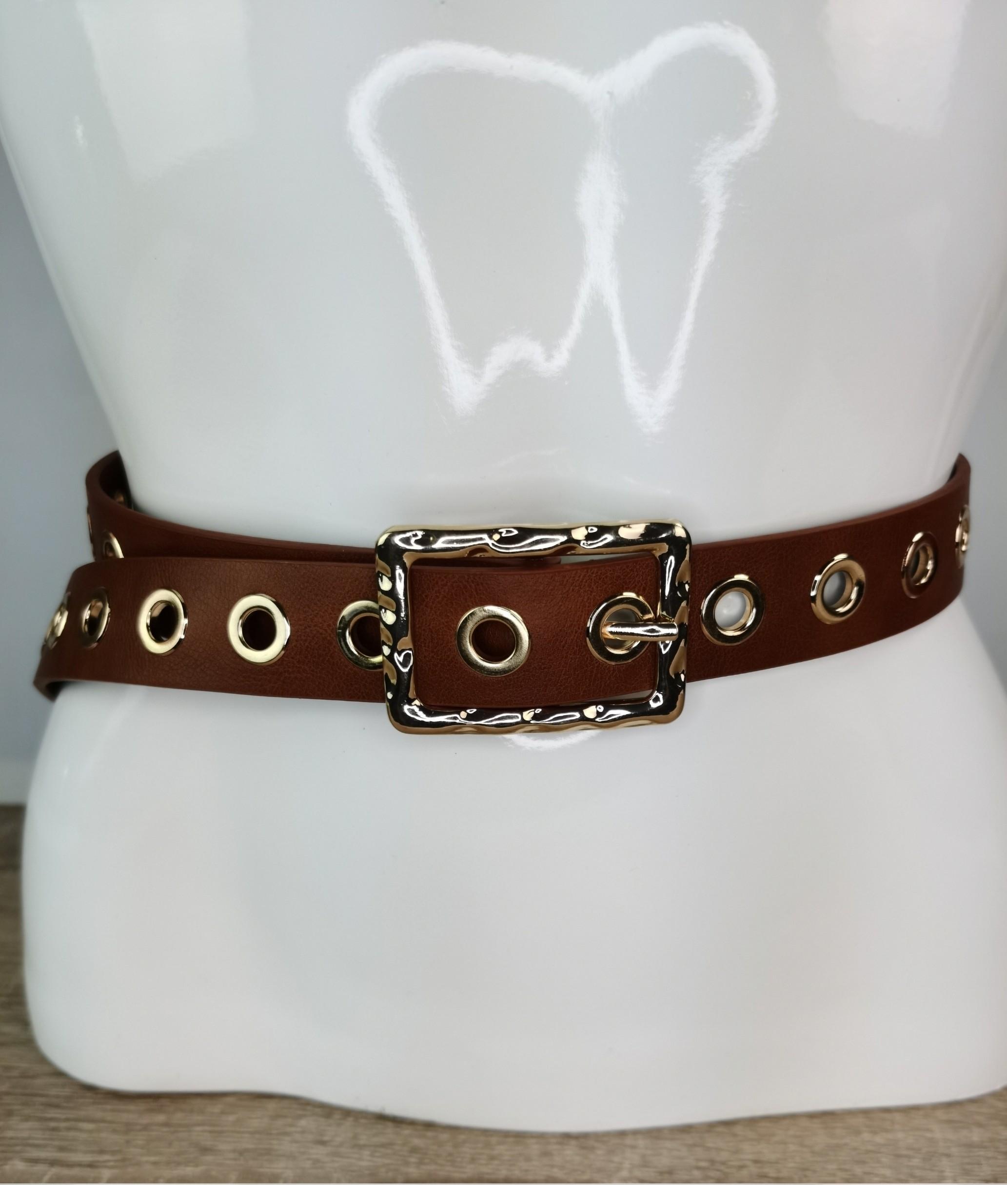Cinturón piel Filo - taupe