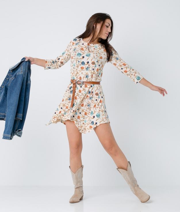 Dress Calena - Beige
