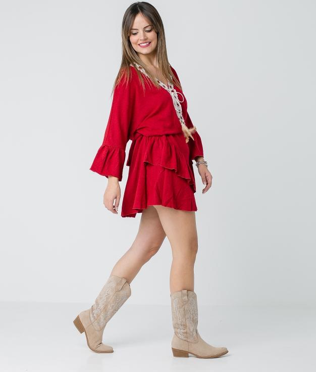 Dress Buren - Red