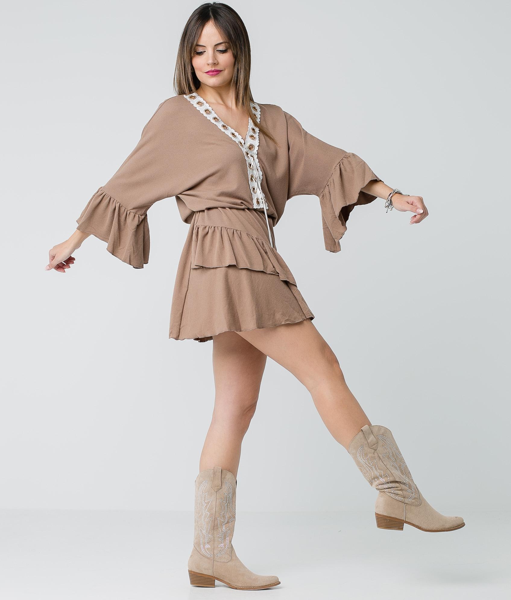 Vestido Buren - Marrón