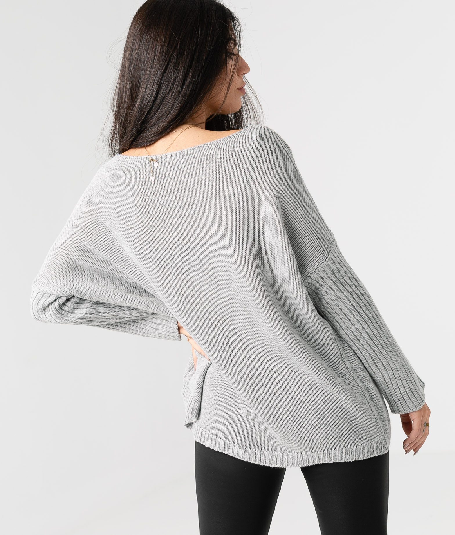 PULL RIBIDO - GRIS