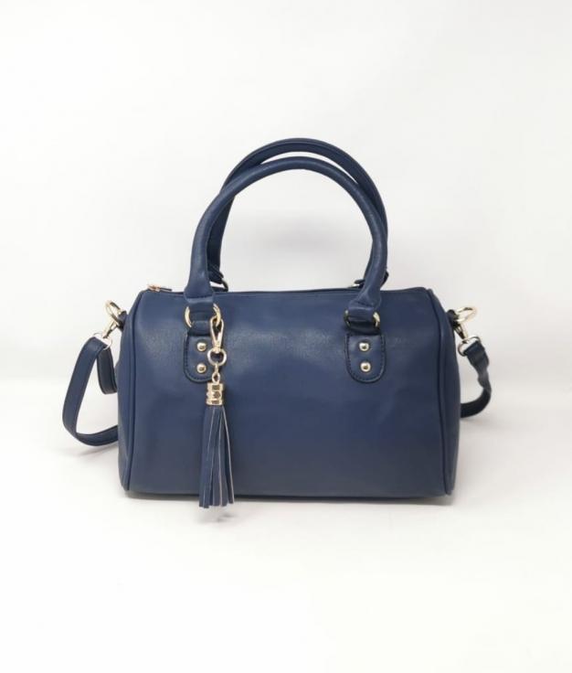 WHITE BAG - NAVY BLUE