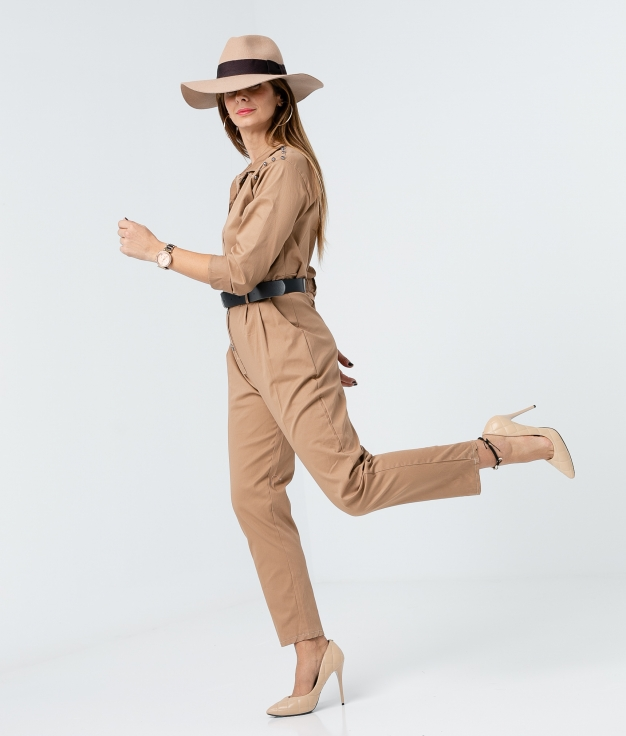 SELER JUMPSUIT - CAMEL