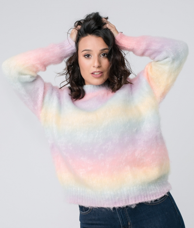SWEATER RAINBOW - MULTICOLOR