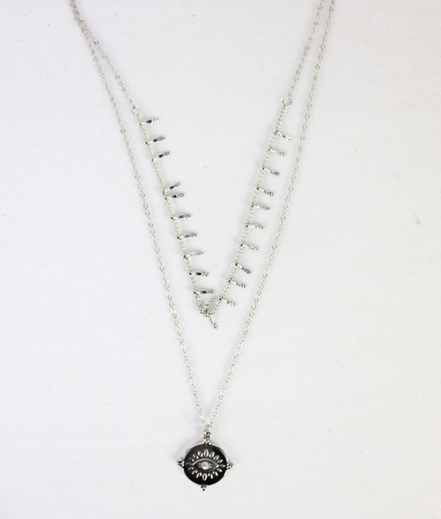COLLIER OJO - ARGENT
