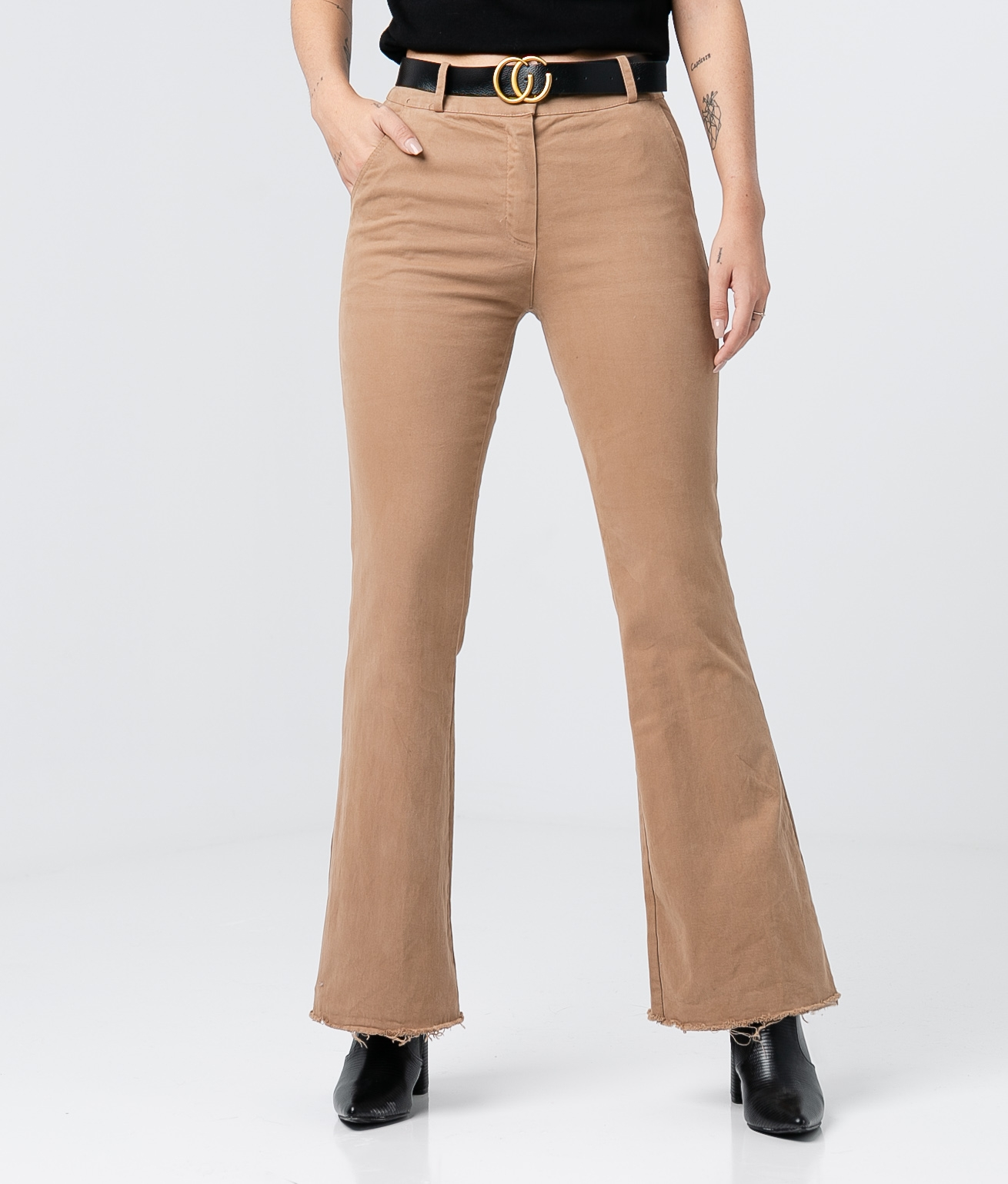 RONAES TROUSERS - CAMEL