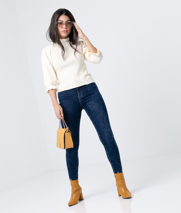 PANTALONI ARANZA- DENIM SCURO