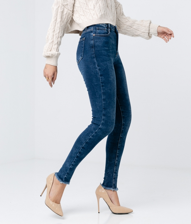 PANTALONI LIUS - DENIM SCURO