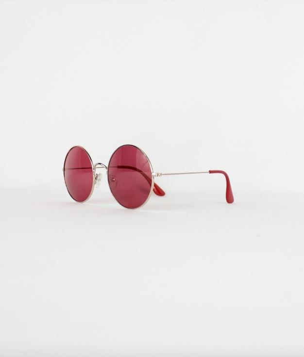 SUNGLASSES BARTI - GOLD/RED