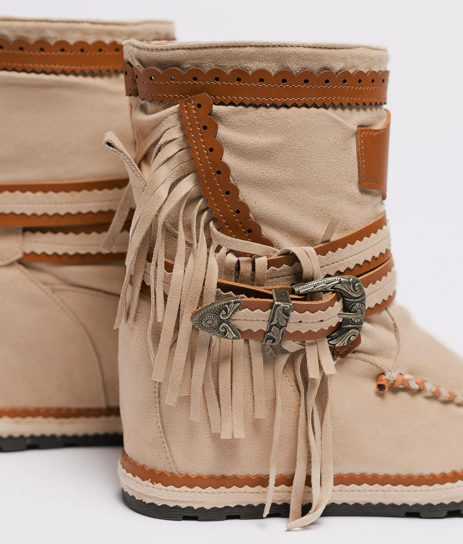 Bota Baja Indianini Armie - Beige