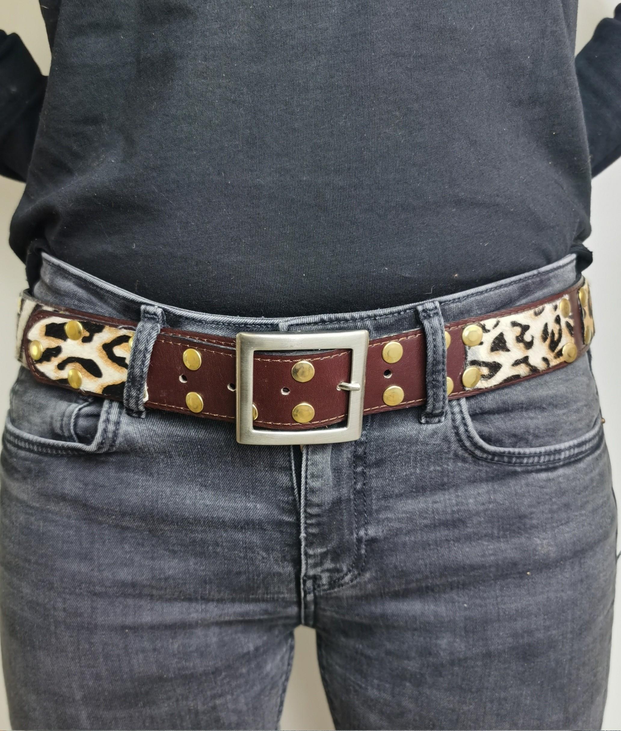 Cinturón de piel Mia - Como