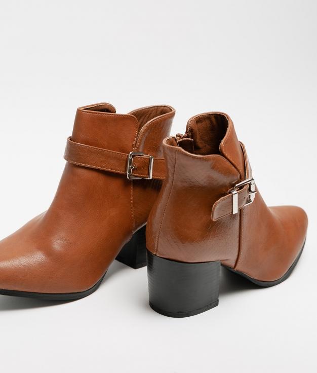 Tina Low Boot - Camel