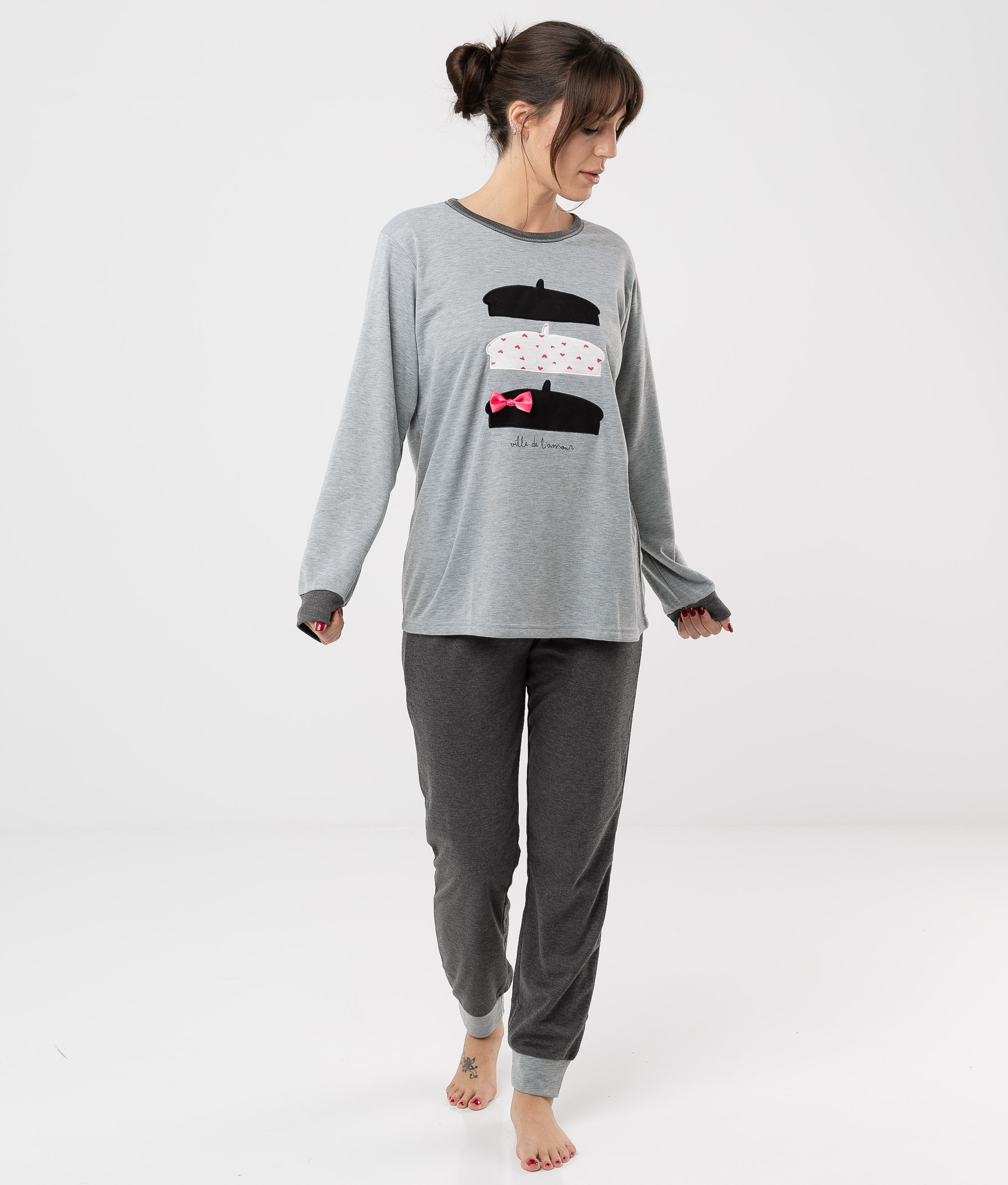 Pijama Cretas - Gris