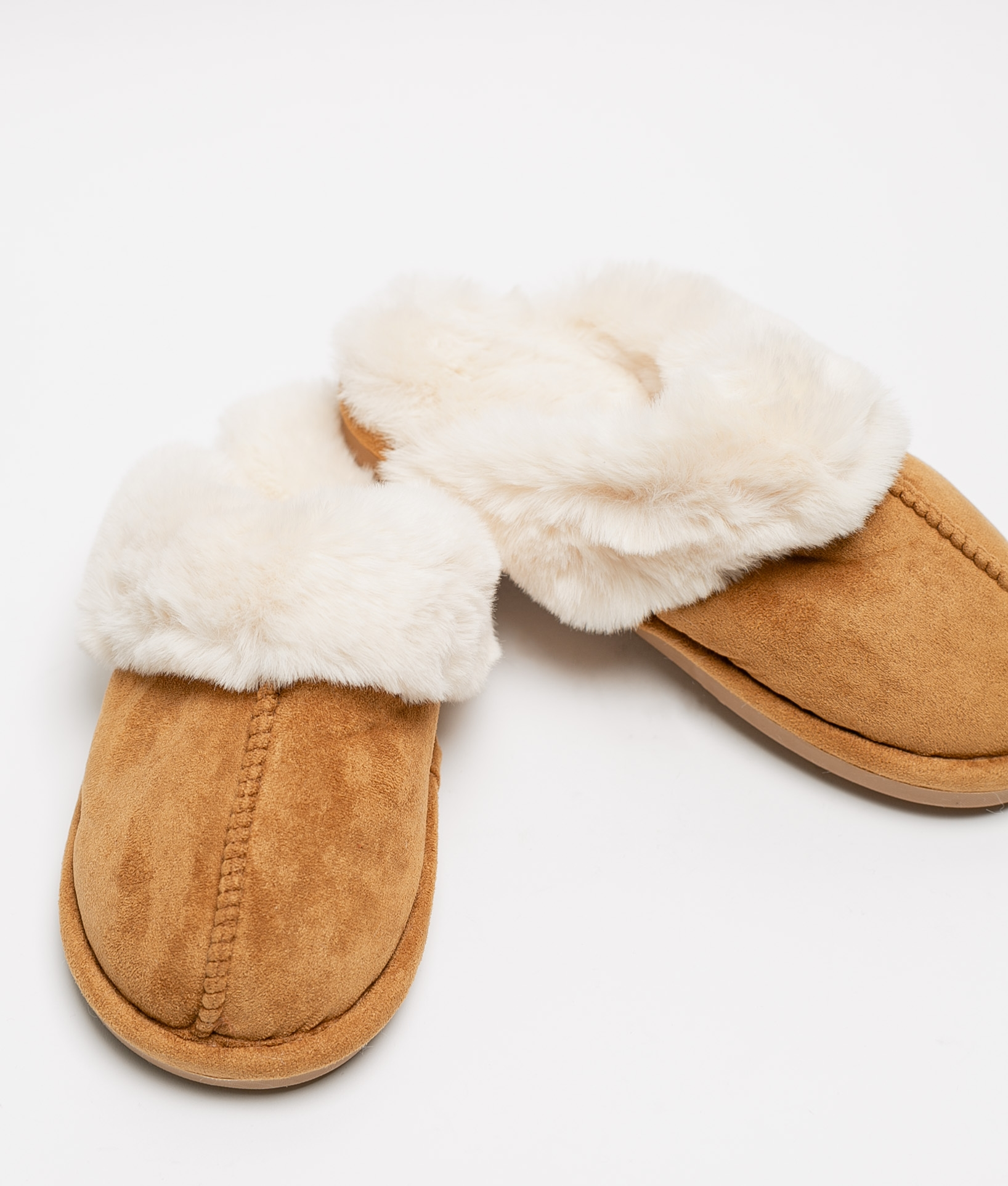 CANDI SLIPPERS - CAMEL