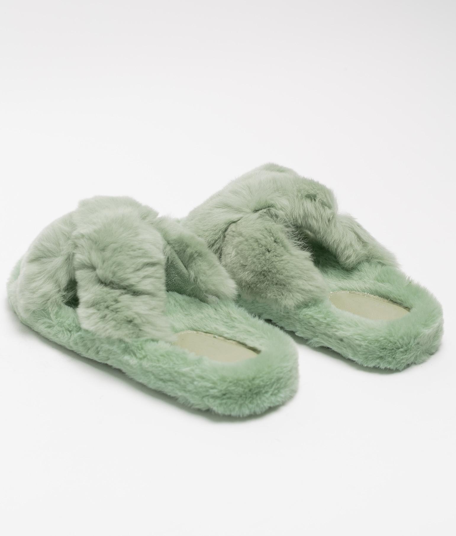 BUNY SLIPPERS - GREEN