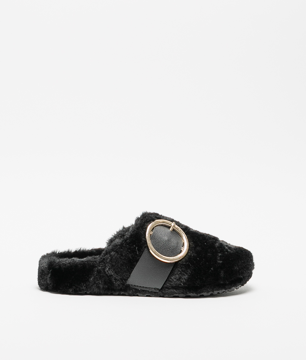 LALI SLIPPERS - BLACK