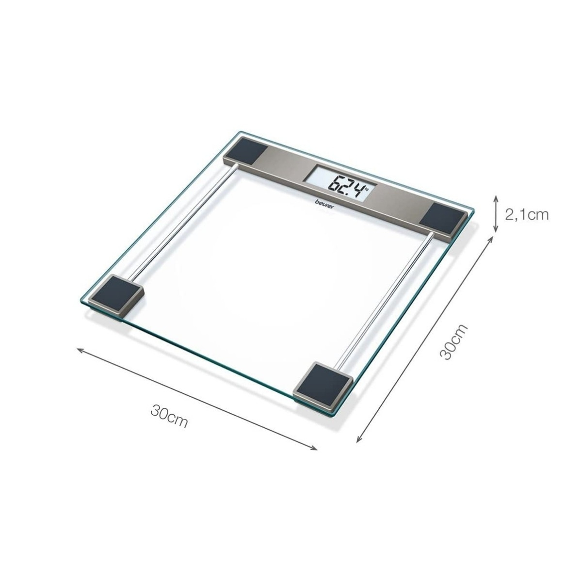 GLASS SCALE - 150 Kg