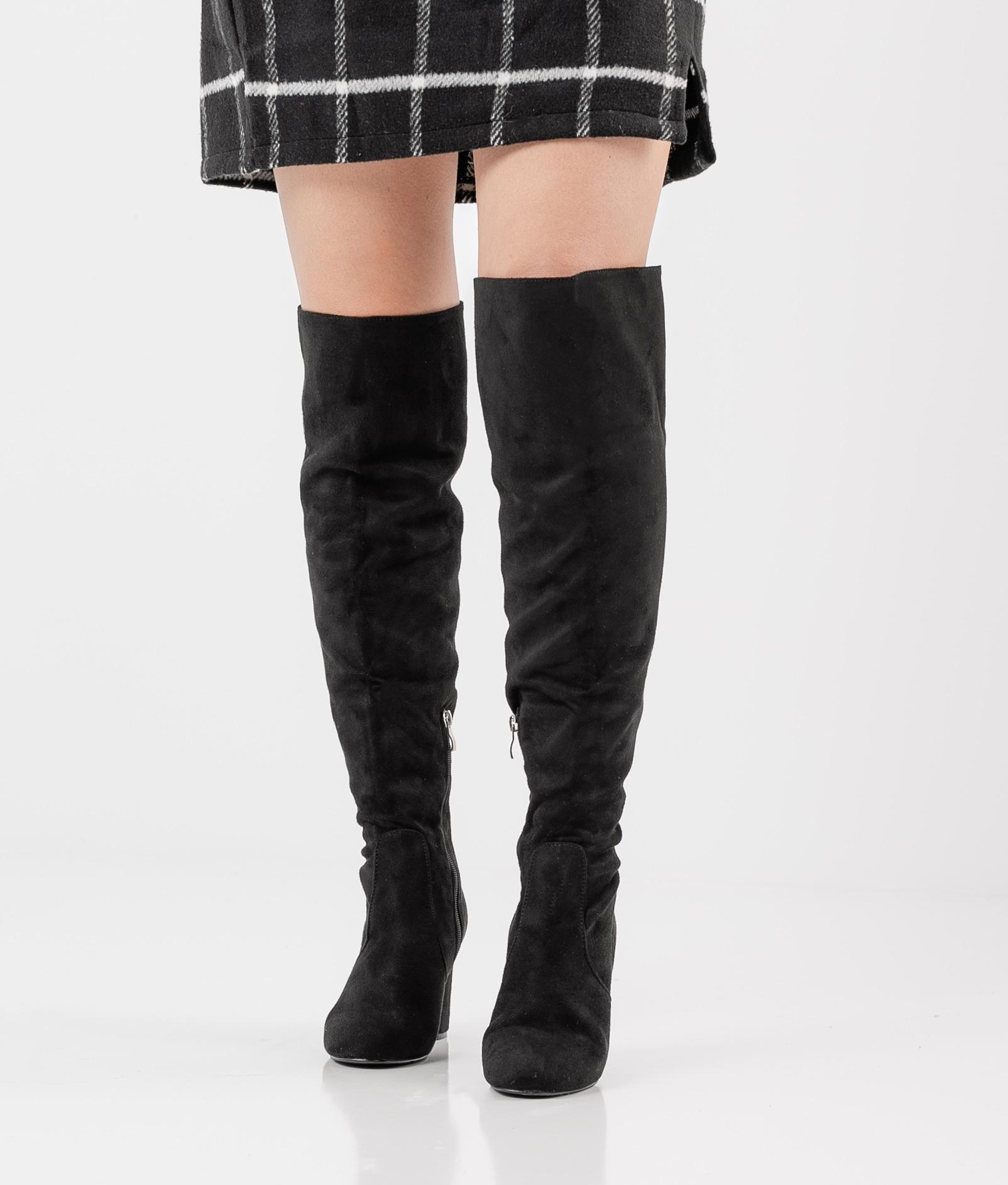 Knee-Lenght Boot Glea - Black