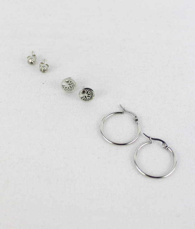 PACK EARRING NORA - SILVER